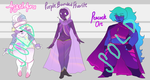 CLOSED purple-pink gems by noodlesqueen