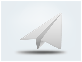 Paper Plane Icon by customicondesign