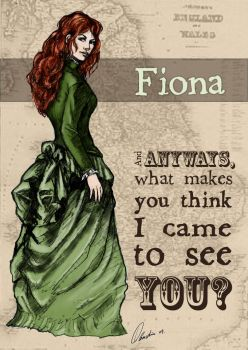 Fiona Graphic from The Five Dollar Mail by Dulcinaya