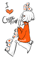 I Love Coffee Mugs by Twinklepunt