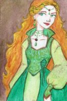 ACEO: Lady of the Green Kirtle by LaraInPink
