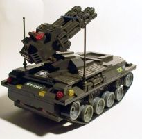 Mock Lego Anti Aircraft Tank by Frohickey
