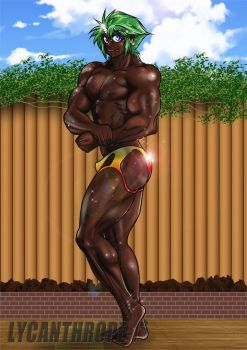 Body building pose by lycanthrope-bata