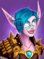 Blizzcon Badge: Celiara by Kayley