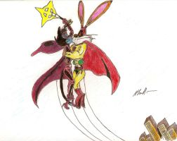 Alley-Kat-Abra and Captain Carrot by Hhallart