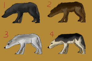 Wolf Adoptables-1,2,3 LEFT by Wolf-Tracks