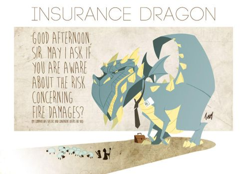 Insurance Dragon by Tursy