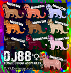 Female Cougar Adoptables ALL SOLD by DJ88