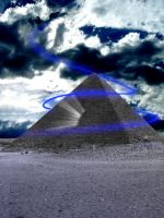 The Very Blue Pyramid by InfiniteRogue