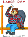 Chisel, the Labor Day Beaver! by WalterRingtail