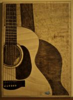 Acoustic guitar by piroTgraph23