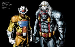 Bravestarr and 3030 (ink by ~denart) by NSoman84
