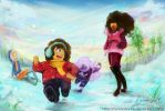 Winter With Steven Universe by CanvasBunne