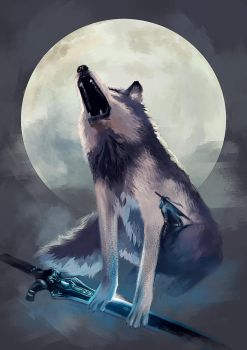 Sif, the Great Grey Wolf by Ka-Wo