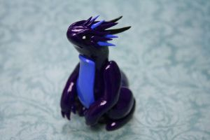 Purple and Light Blue Dragon by redninjacreations