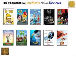 10 AniMat's Classic Reviews Requests  by MaireadMalesco