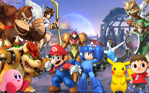 Super Smash Bros 4: Confirmed Characters Wallpaper by BowserJrSMB