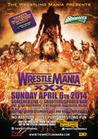 TWM Wrestlemania XXX party poster by TheIronSkull