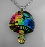 Rainbow Magic Mushroom by HoneyCatJewelry