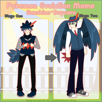 SD: Sammy Evolution Meme by SacredLugia
