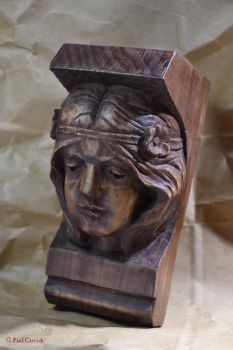 carving practice- art nouveau head 2 by nightserpent