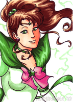 Sailor Jupiter Art card by TwinEnigma
