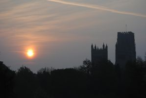 Sunrise Durham Cathedral by alanhay
