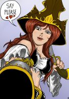 Miss Fortune (european comic style-colored) by The-Piojolopez