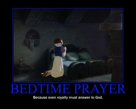 Bedtime Prayer Motivational Poster by QuantumInnovator