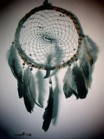 Dreamcatcher with crow and rooster feathers by SuvetarsWell