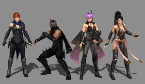 Ninja Gaiden 3 Razor's Edge - The Cast by IshikaHiruma
