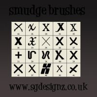 smudge brushes by demezza