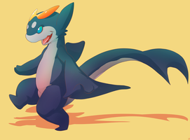 sharky dragon by phation