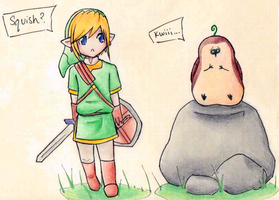 Link and Machi by S-AY