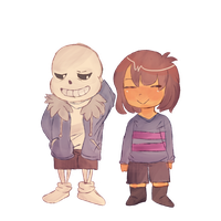 Sans and Frisk by Linked-Memories