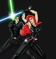 Mara Jade - final battle by JosephB222