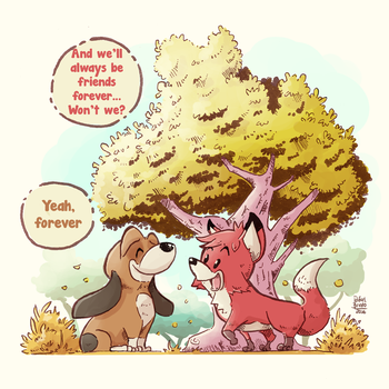 The Fox and the Hound by rafaelbrindo