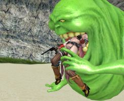 Kagura Vs. Slimer part 6 with some story :P by RECBDRAKEplz