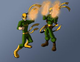 Commission-Iron Fist x2 by KrisSmithDW