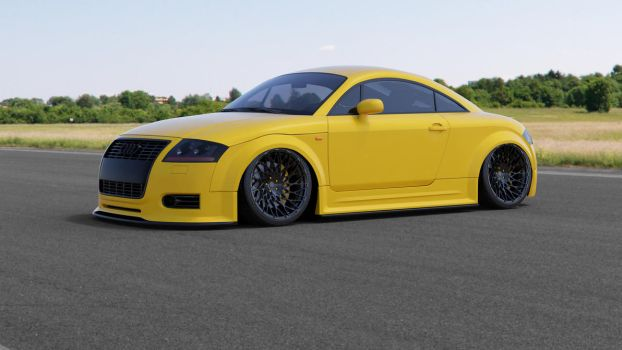 2003 Audi TT Yellow - 4k by doom17