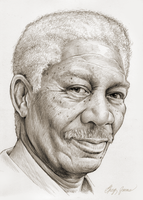 Morgan Freeman by gregchapin