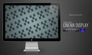 Cinema Display PSD by iPur