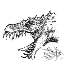 Sketch Series - Dragon 1 by darthhorus