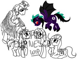 .:WIP:. Haven't drawn a pony in a while... by InfernalEvanesce