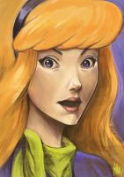 Daily Sketches Daphne from Scooby Doo by fedde