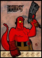 Hellboy Card by CartumanBrasil