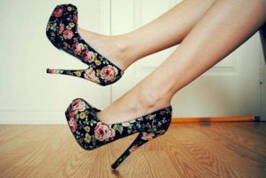 Fashion - Floral Heels by hip4art