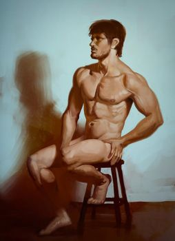 Figure Painting 08-22-15 by Andantonius
