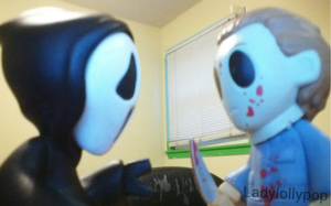 Michael Myers vs ghost face by Ladylollypop