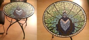 mosaic peacock table by Rahtschini